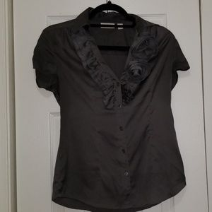 Satin button down blouse